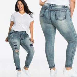 Ashley Stewart | Ripped Edgy Skinny Jean